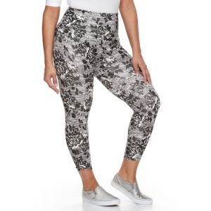 Plus Size French Laundry Floral Capri Leggings